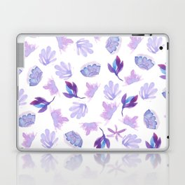 Lavender purple hand painted  watercolor floral Laptop & iPad Skin