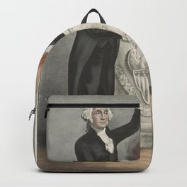 Vintage American Founding Fathers Illustration (1865) Backpack