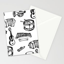 Toy Instruments, Black and White Stationery Cards