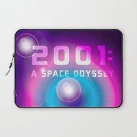 2001 a space odyssey Laptop Sleeves featuring 2001 a Space Odyssey by Scar Design