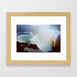 Iceland Gulfoss Waterfall Framed Art Print