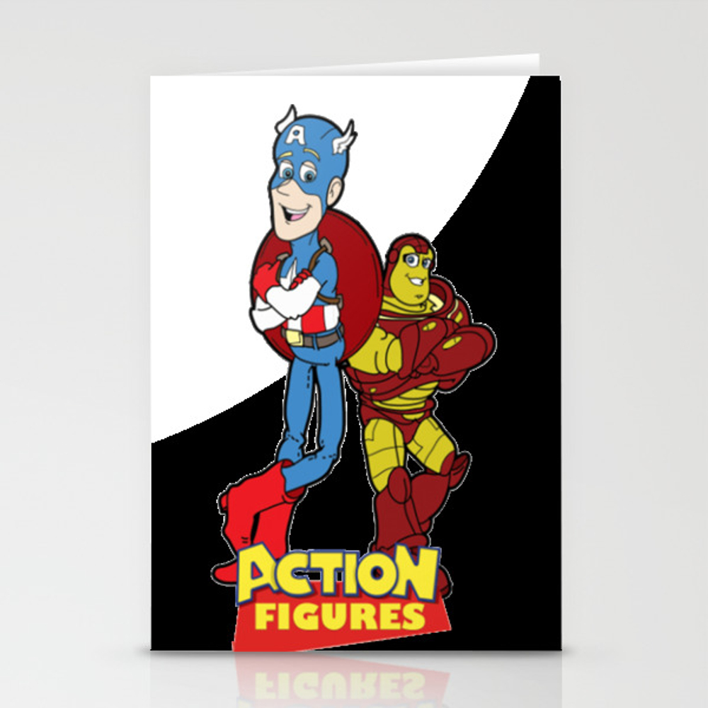 Action Figures Stationery Cards by Ngominhanhhfed CRD7907979
