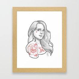 Skateboarding Girl #3 Framed Art Print
