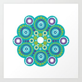 Mandala lots flower Art Print