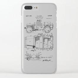 Jeep: Byron Q. Jones Original Jeep Patent Clear iPhone Case