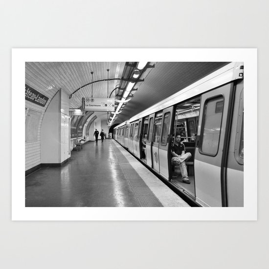 Paris, métro Art Print