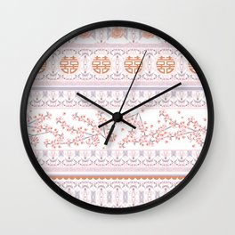 Happiness and Sakura Wall Clock