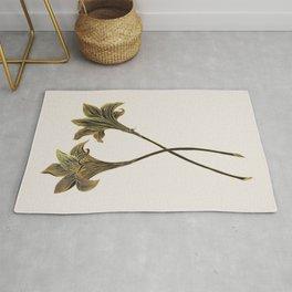 Indian Lily Daffodil Rug