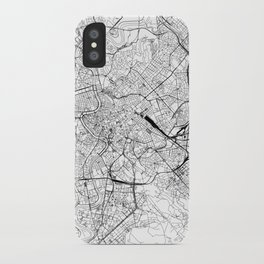 Rome White Map iPhone Case
