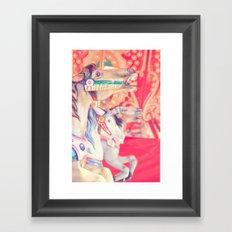 Pink Carousel Horse Framed Art Print