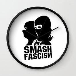 Smash Fascism Wall Clock