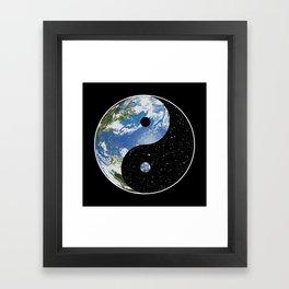 Earth / Space Yin Yang Framed Art Print