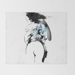 Shibari - Japanese BDSM Art painting #2 Throw Blanket