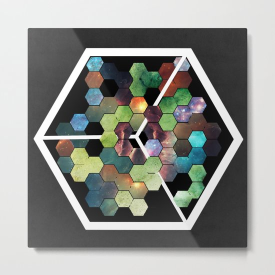 Abstract Geometric  Galaxy Study Metal Print