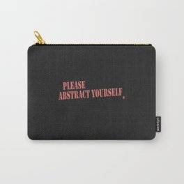 Please Abstract Yourself - Light Red Carry-All Pouch