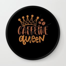 Coffee Queen Wall Clock