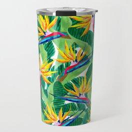 Summer Strelitzia Travel Mug