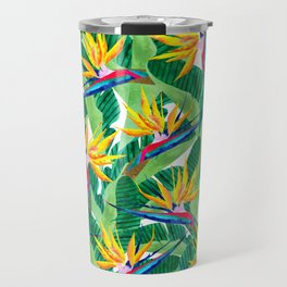 Summer Strelitzia Travel Mug