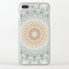 Mandala Snow Queen Clear iPhone Case