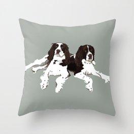 Springer Spaniel Buddies Throw Pillow