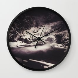 Frozen Seclusion Wall Clock