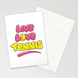 Life Love Tennis Tennis Ball Yellow Stationery Cards
