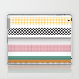 Mixed Pattern Stripe Print Color Blocking Laptop & iPad Skin