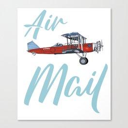 Biplane air mail plane Canvas Print