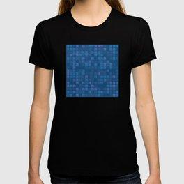 november blue geometric pattern T-shirt