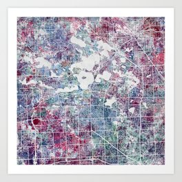 West Bloomfield map Art Print