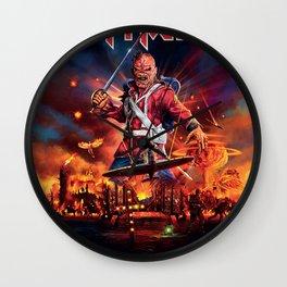 iron maiden album 2021 dede15 Wall Clock