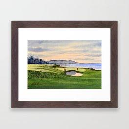 Pebble Beach Golf Course 9th Green Framed Art Print
