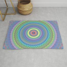 Vibrant Colorful Mandala Design Rug