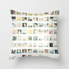 Polaroid Wall Throw Pillow
