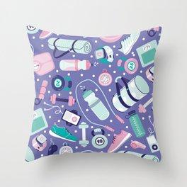 Get Fit Throw Pillow