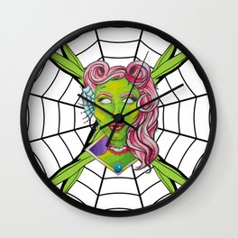 Zombie Pinup Wall Clock