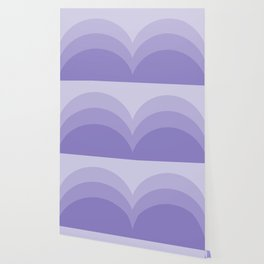 Four Shades of Lavender Curved Wallpaper