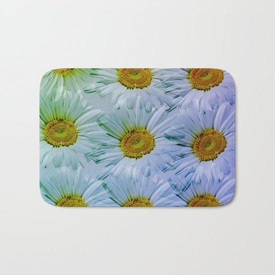 Painterly Daisies Bath Mat