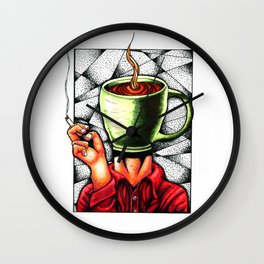 coffee head Wall Clock