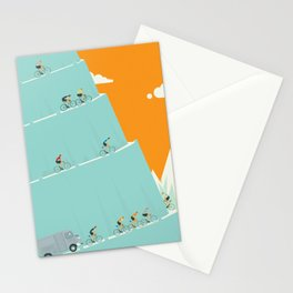 King of the Mountains Cycling Grand Tour Stationery Cards