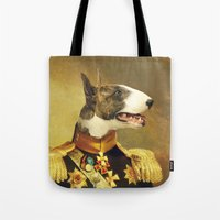 general Tote Bags featuring General Bully by Bakus
