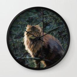 Posing Maine Coon Wall Clock