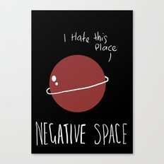 Negative Space Canvas Print