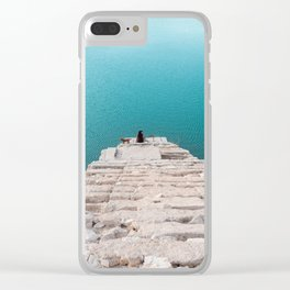 Stairway to infinite turquoise water Clear iPhone Case