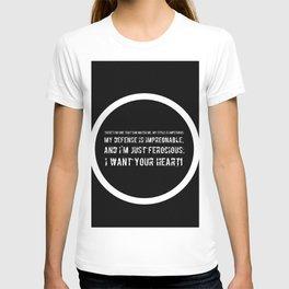 Impetuous, Impregnable, Ferocious, Heart T-shirt