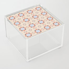 Blue Retro Tile Acrylic Box