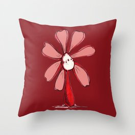 """""""Red"""" Color Chakra Flowerkid Throw Pillow"""