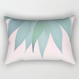 Delicate Agave Fringe Illustration Rectangular Pillow