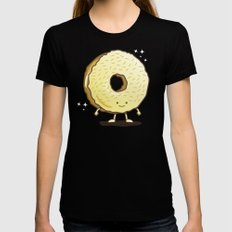 The Golden Donut Black SMALL Womens Fitted Tee