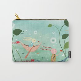 floating ears rabbit Carry-All Pouch
